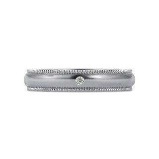 K18WG ミルグレイン with ダイヤモンド 3.5mmの商品画像