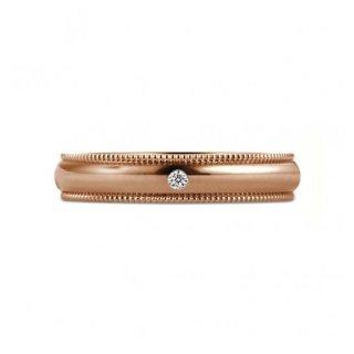 K18RG ミルグレイン with ダイヤモンド 3.5mmの商品画像