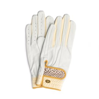 Elegant Golf Glove 【両手】<br>white-ivory-python