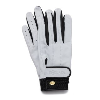 Elegant Golf Glove 【両手】<br>white-black