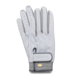 Elegant Golf Glove 【両手】<br>white-grey