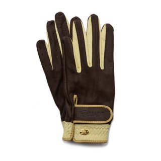 Elegant Golf Glove 【両手】<br>chocolate-beige