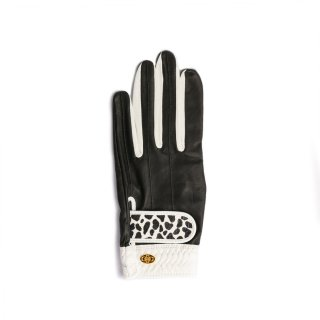 Elegant Golf Glove 【左手】<br>black-white-dalmatian