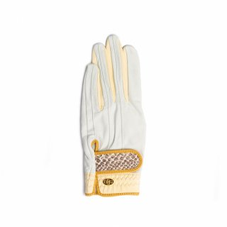 Elegant Golf Glove 【左手】<br>white-ivory-python