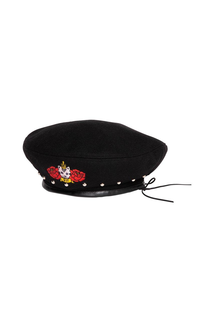 スタッズベレー帽