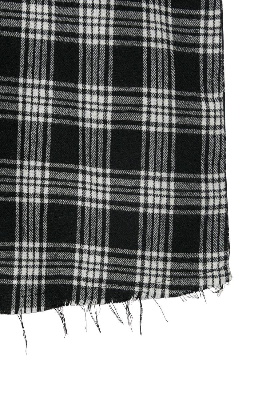 半袖バックジップチェックシャツ