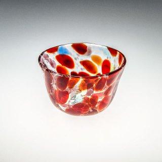 波の花 小鉢 赤