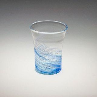 さざ波 4インチ口広グラス 青/水