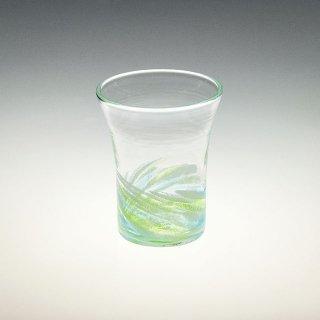さざ波 4インチ口広グラス 緑/水
