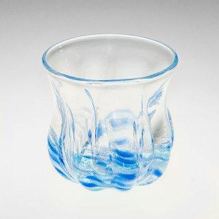 さざ波 丸グラス 青/水