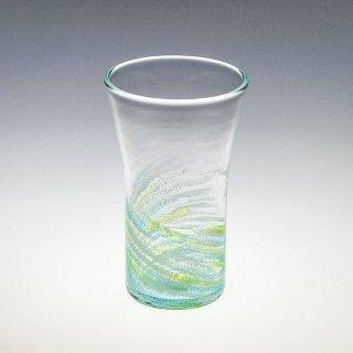 さざ波 ビアグラス 緑/水