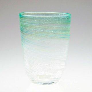 潮風グラス(小) 緑/水