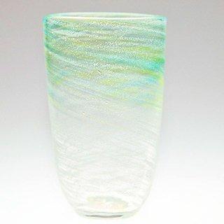 潮風グラス(大) 緑/水
