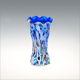 さんご礁 花瓶 青