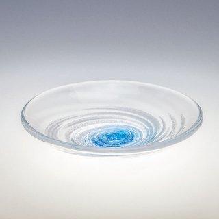 うず潮 モール小皿 青/水