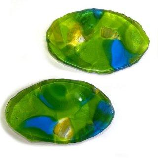 木の葉皿 緑(小)