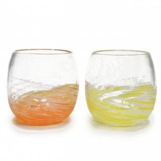 さざ波 タルグラス 黄色・オレンジ
