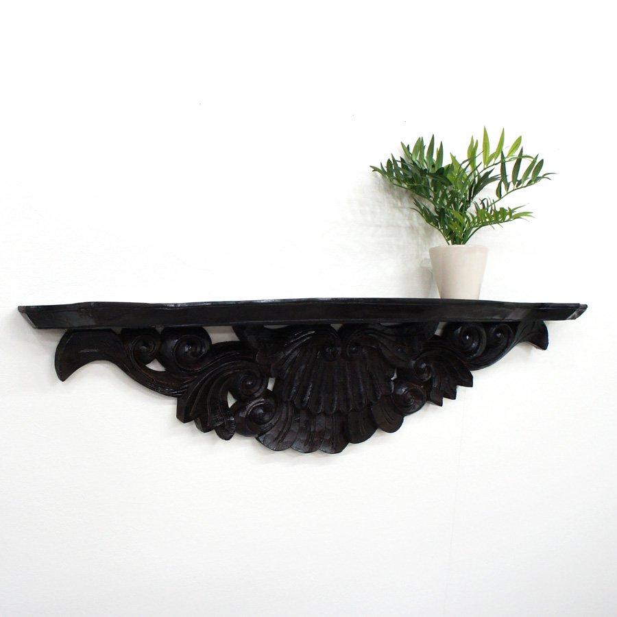 木製アジアンウォールシェルフL・幅100cm