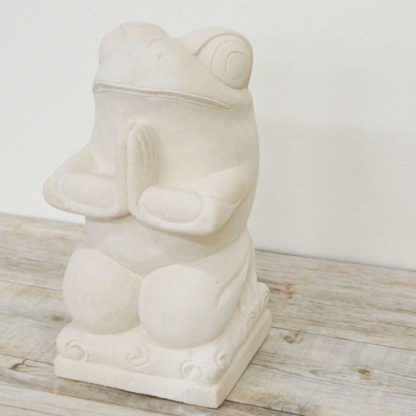 バリ石像・お祈りカエル/H30cm/SD-036
