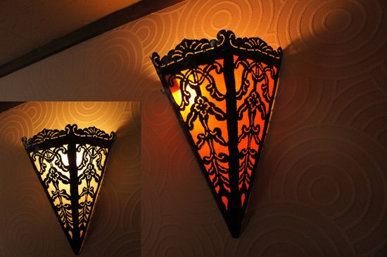 LED球アイアン壁掛けランプ・高さ34cm