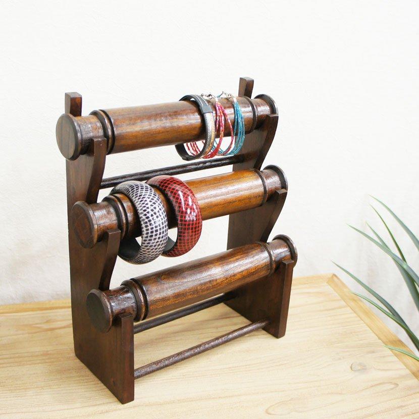 木製ブレスレットスタンド/H30cm/OB-085
