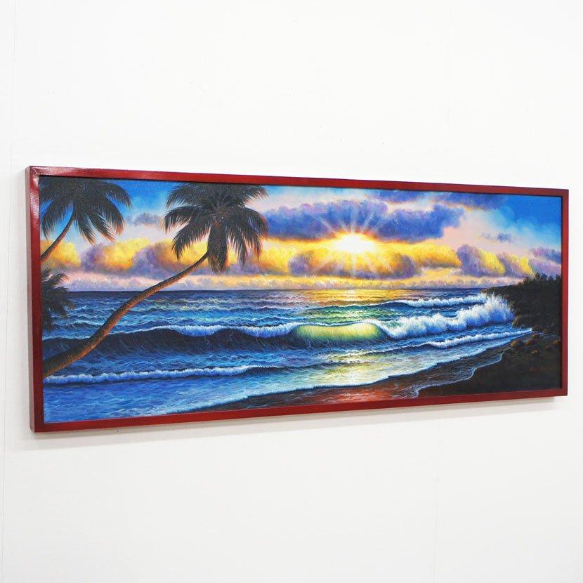 バリ絵画・バリの海/123*48cm/PA-163-16