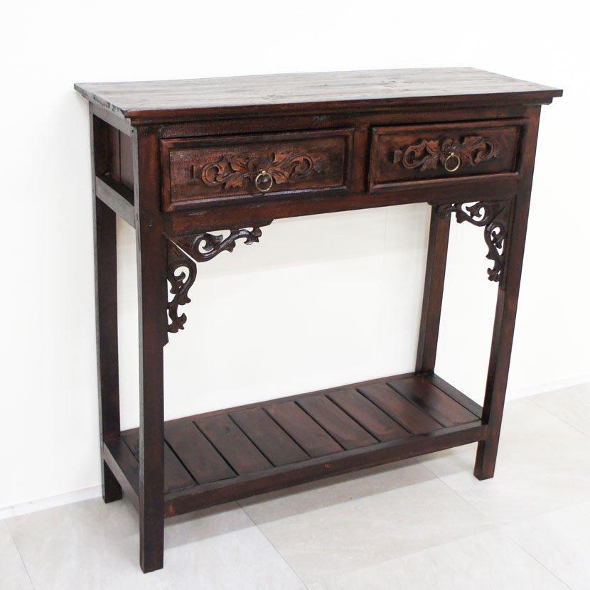 アジアン家具・引出付き飾り棚/W110H79cm/BF-031