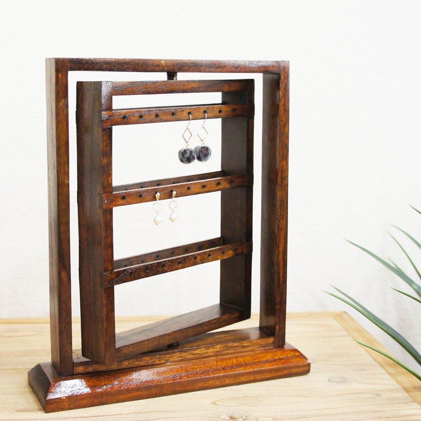 木製ピアススタンド/H30cm/OB-055