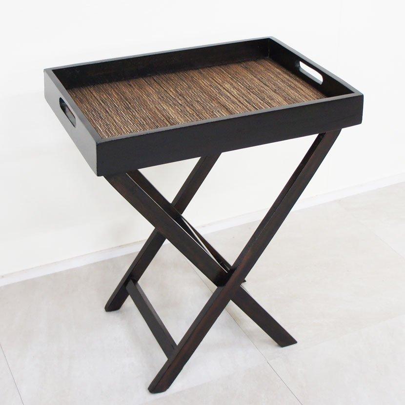 アジアン家具・木製階段型収納飾り棚・W103cm