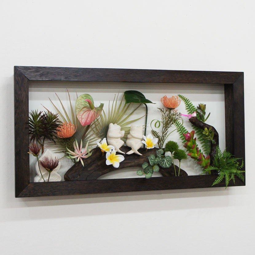 壁に飾るリゾート風人工観葉植物/80*40cm/GK-001-33