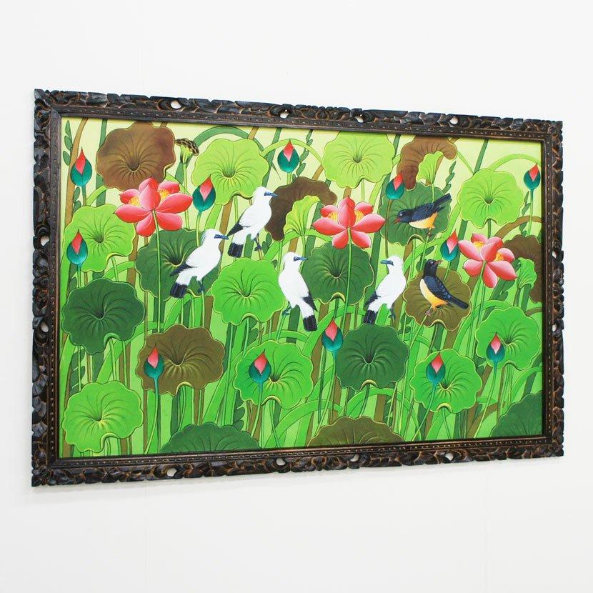バリ絵画:ブンゴセカン 特大/145*95cm/PA-005-28