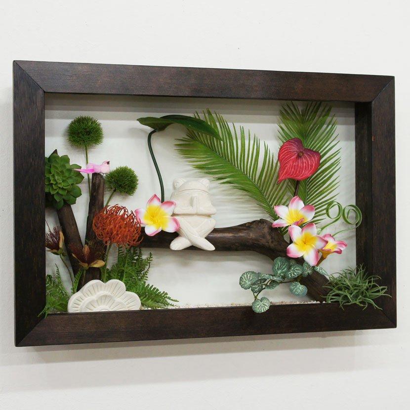 壁に飾るリゾート風人工観葉植物/60*40cm/GK-002-31