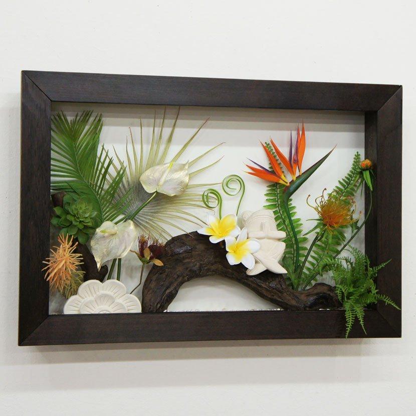 壁に飾るリゾート風人工観葉植物/60*40cm/GK-002-32