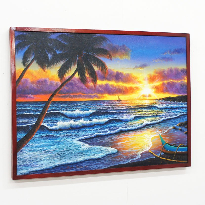 バリ絵画・バリの海/83*63cm/PA-159-21