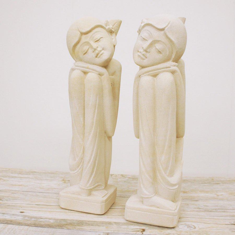 石像バリニーズカップル・高さ40cm