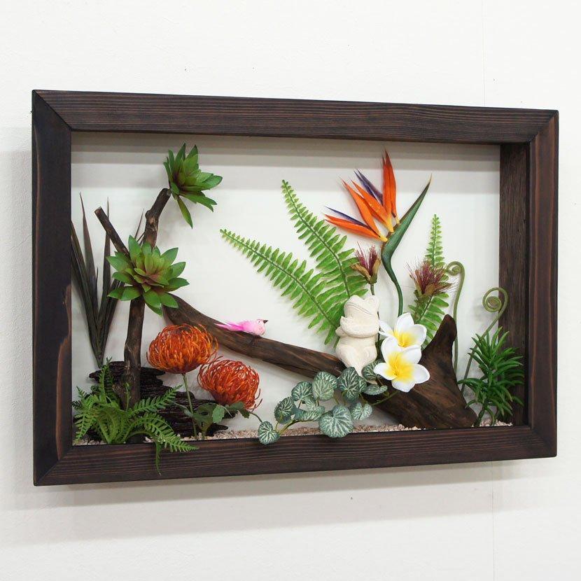 壁に飾るリゾート風人工観葉植物/60*40cm/GK-002-34