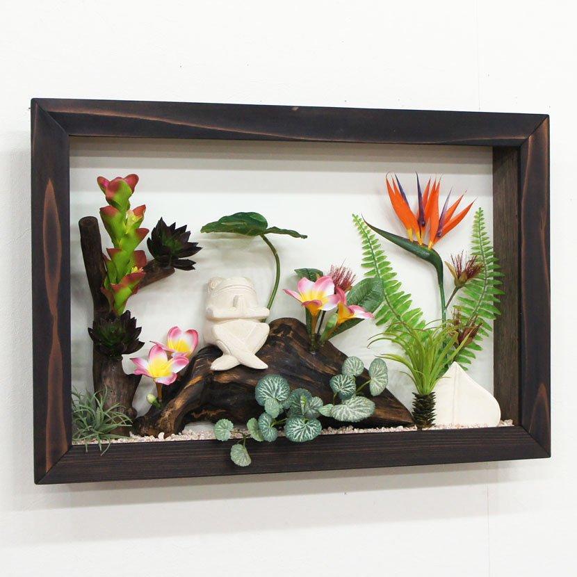 壁に飾るリゾート風人工観葉植物/60*40cm/GK-002-37