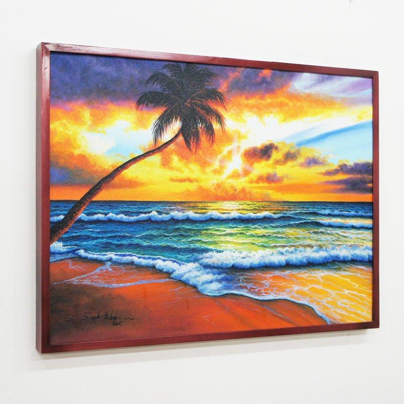バリ絵画・バリの海/83*63cm/PA-159-25