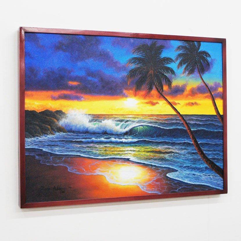 バリ絵画・バリの海/83*63cm/PA-159-27