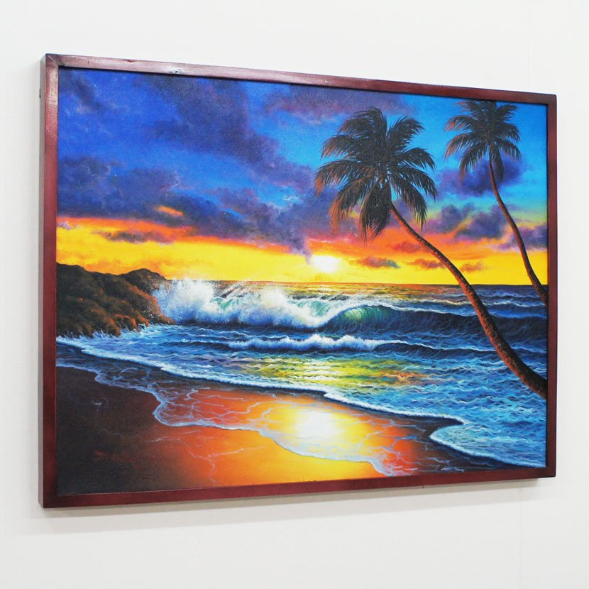 バリ絵画・バリの海/83*63cm/PA-159-29