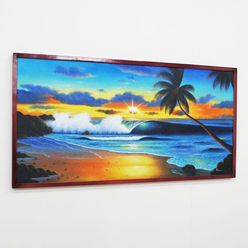 バリ絵画・バリの海/103*53cm/PA-124-10