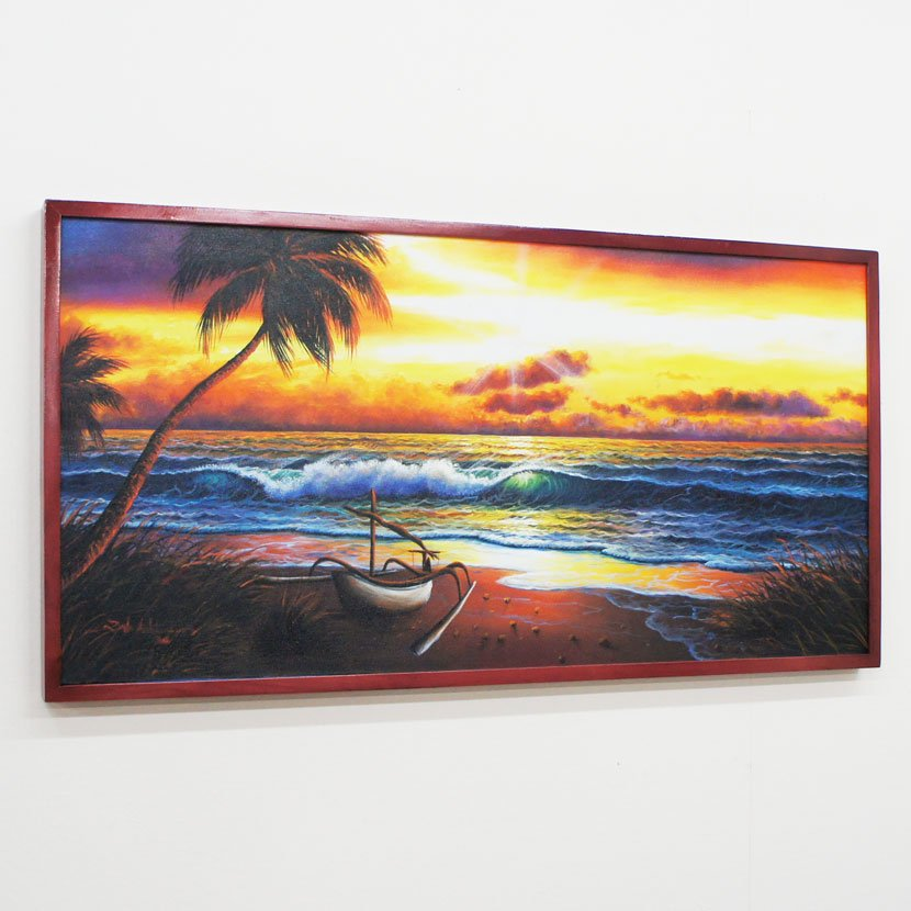 バリ絵画・バリの海/103*53cm/PA-124-11