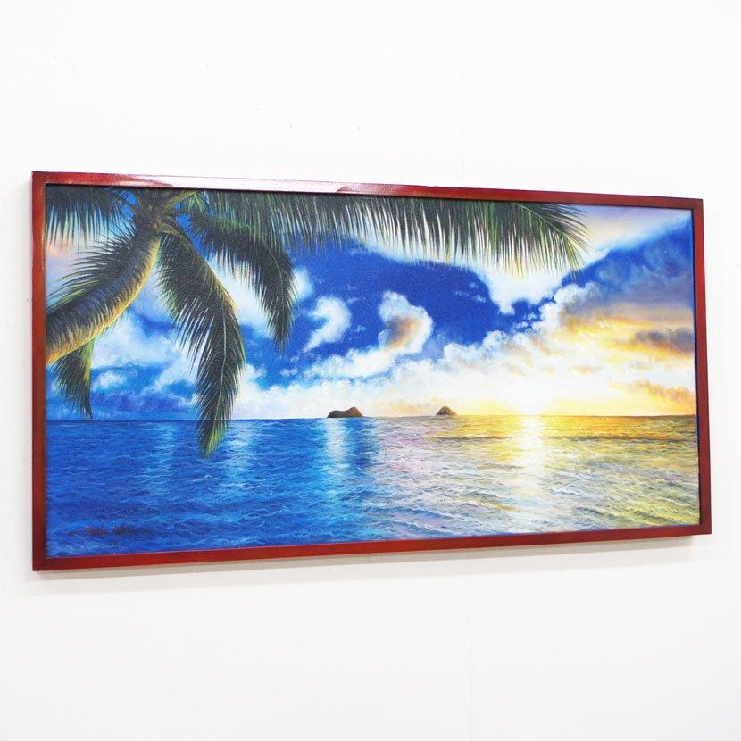 バリ絵画・バリの海/103*53cm/PA-124-12