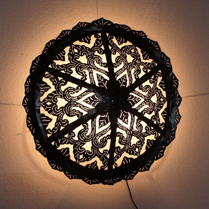 LED球付き・アイアン壁掛けランプ/直径65cm/NL-067M