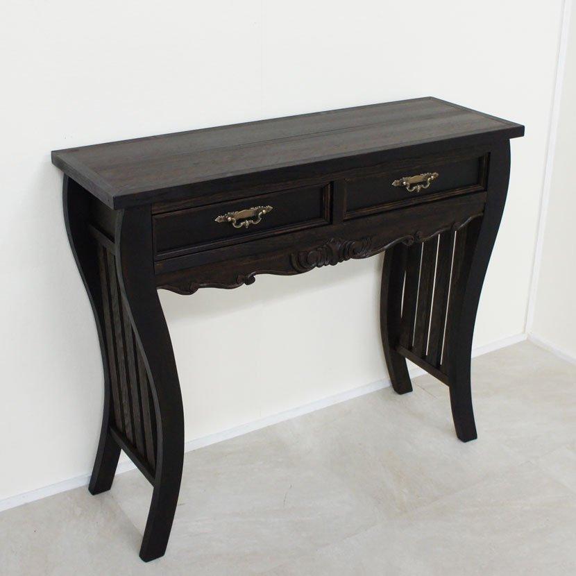 アジアン家具・木製テーブルL/H60*W56cm/BF-011L