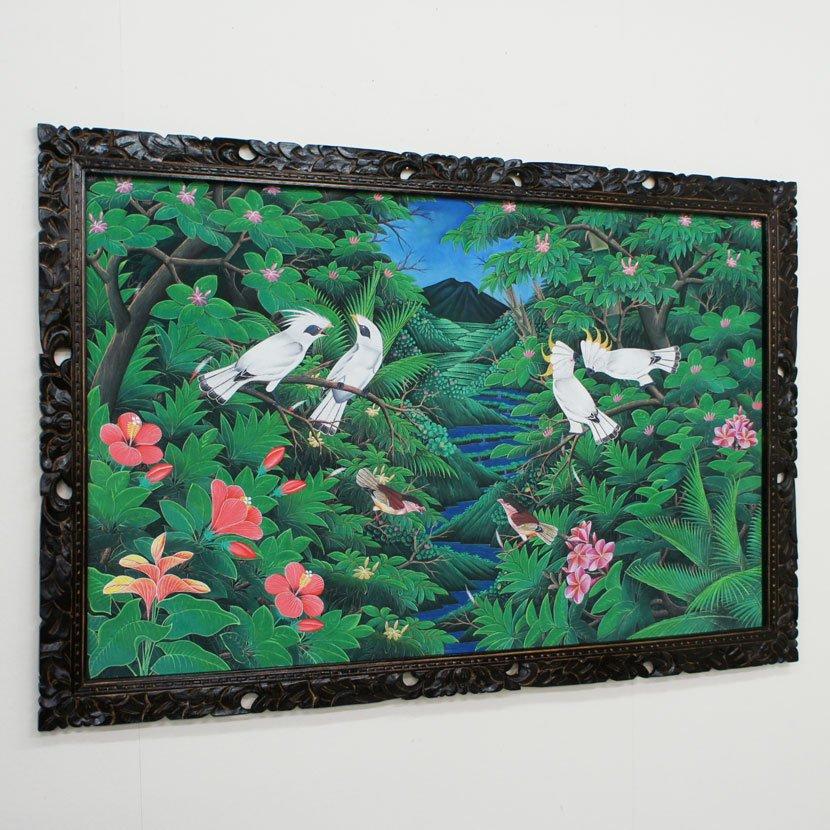 バリ絵画:ブンゴセカン 特大/145*95cm/PA-005-31
