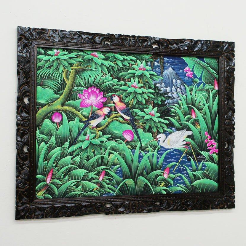 バリ絵画・ブンゴセカン/95*75cm/PA-019-135