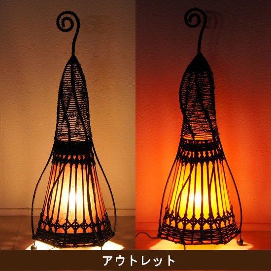 【アウトレット】テント型アジアンランプ・高さ76cm