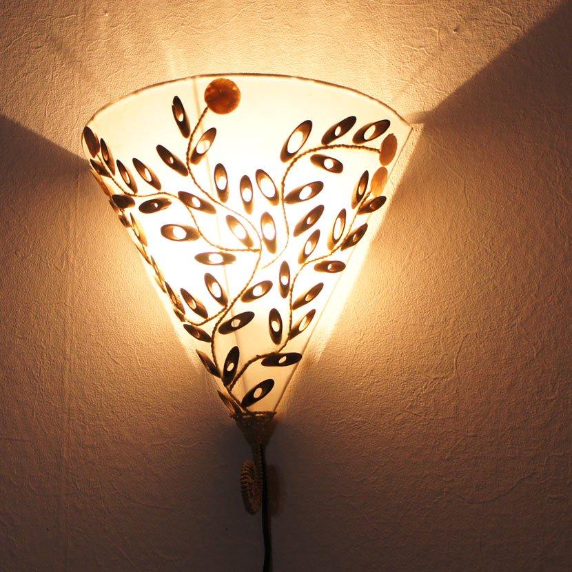 バンブー模様の壁掛けランプ/W30cm/NL-059