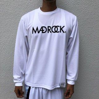 【定番】マッドロック / ロゴ ロンT / ドライタイプ / ホワイト&ブラック
